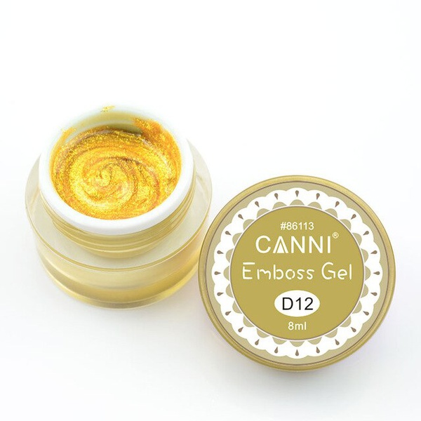 CANNI Emboss prémium színes 3D festőzselé D12 - 8ml