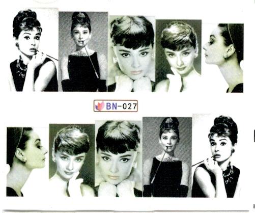 Köröm matrica No.27 Audrey Hepburn