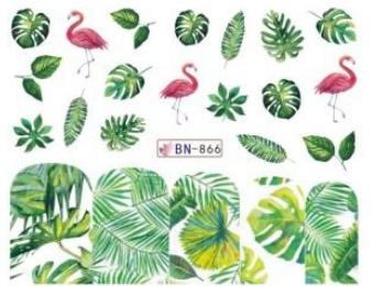 Köröm matrica No.866 leveles, flamingós