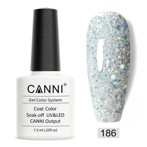 CANNI UV/LED gél lakk 7.3 ml No.186